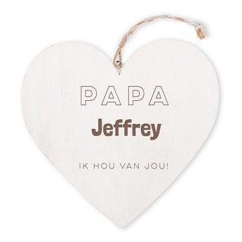 Vaderdag - houten hart