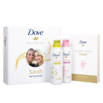 Dove gift set - Inclui um bloco de notas