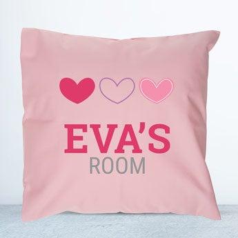 Pink children's cushion