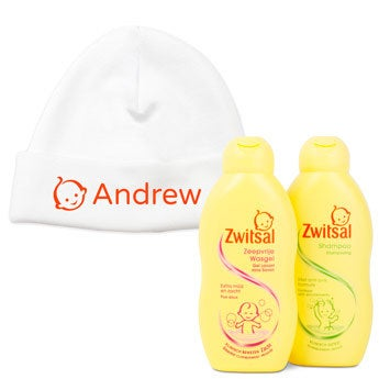 Conjunto do bebé Zwitsal - inclui gorro