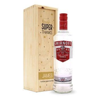 Smirnoff Vodka - in personalised case