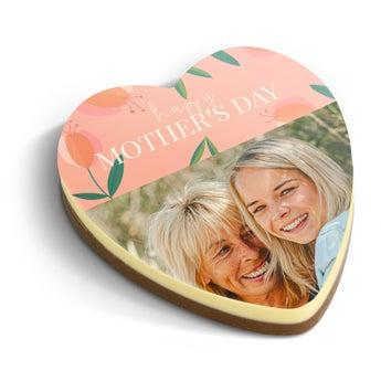 Coeur en chocolat avec photo personnalisé