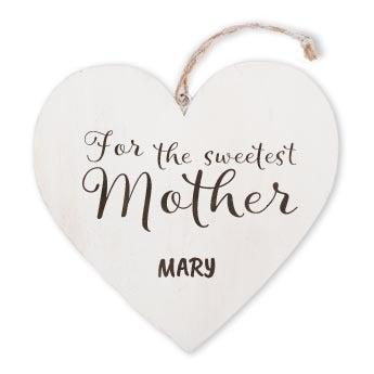 Festa della mamma - cuore di legno