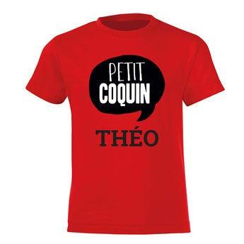 T-shirt - Enfant - Rouge - 4 ans