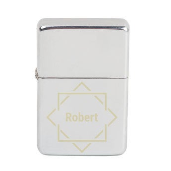 Lighter with text