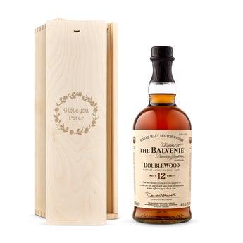 The Balvenie whisky v gravírovanom boxe
