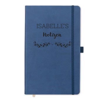 Notebook with name - Black