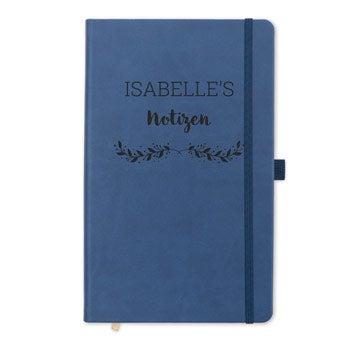 Notizbuch mit Namen - Schwarz