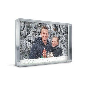 Bloque de fotos con nieve