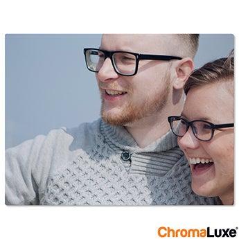 Chromaluxe Aluminium foto - Hvid - 50x40 cm