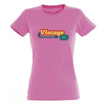 T-shirt - Vrouw - Roze - XL