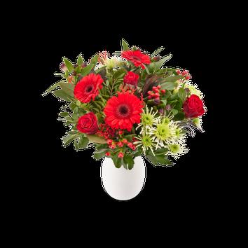 Boeket met rode bloemen