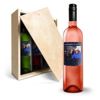 Vin med trykt label – Belvy – Rød, hvid, rosé
