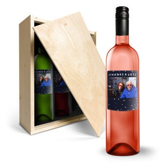 Vinho com rótulo impresso - Belvy - Vermelho, Branco e Rosado