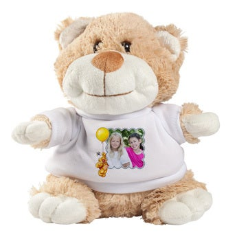 Personalised cuddly toy with photo - Doodles - Betsy Bear