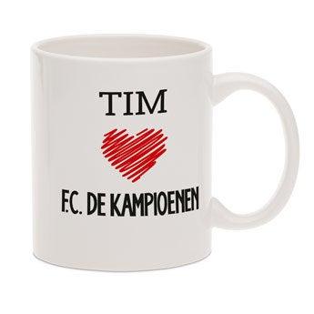 F.C. De Kampioenen mok met tekst