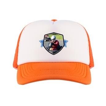Cappellino trucker - arancione / bianco