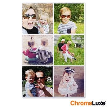 Chromaluxe Aluminium photo - Brushed - 30x80cm