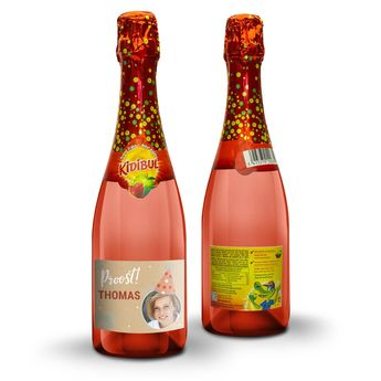 Personalised non-alcoholic children's champagne