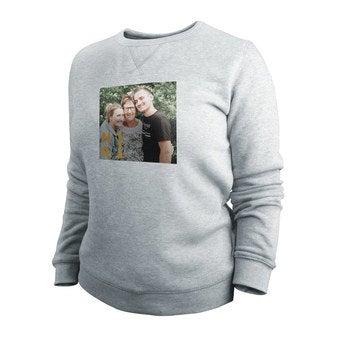Damska bluza z kapturem - damska - szara - M