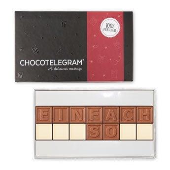 Chocotelegram - 2x7 Buchstaben.