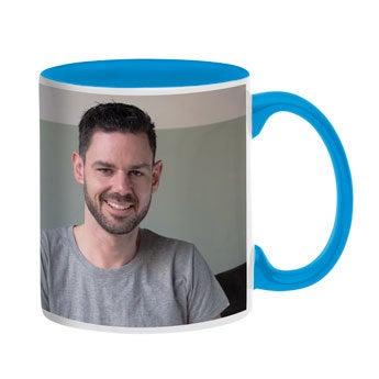 Taza personalizada con foto - Azul