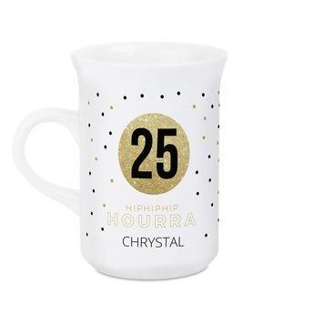Taza de cerámica esmaltada - Blanco