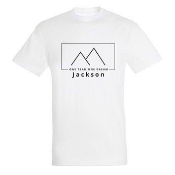 T-skjorte - Menn - Hvit - M