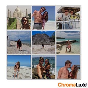 Chromaluxe Aluminium foto - Hvid - 60x60 cm