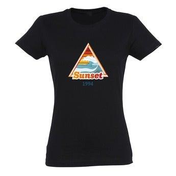 T-Shirt Damen - Schwarz - XXL