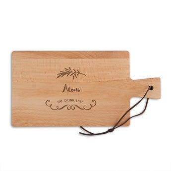 Placa de pão de madeira - madeira de faia - retangular - paisagem (S)