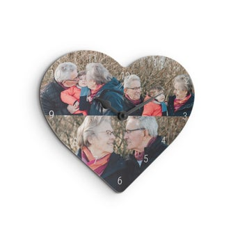 Reloj de pared con foto - Corazón - Abuelas