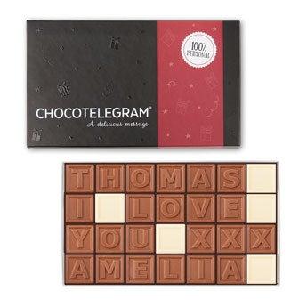 Telegrama de chocolate - 28 caracteres
