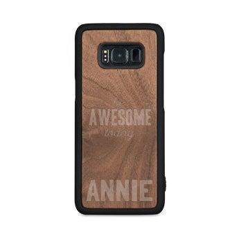 Caixa de telefone de madeira - Samsung Galaxy S8