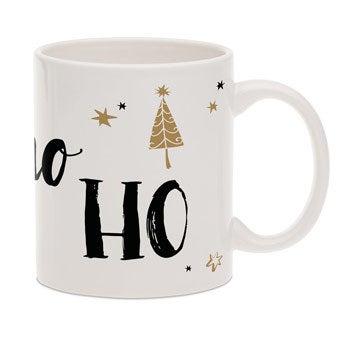Christmas mug with text
