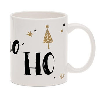 Tazza di Natale con testo