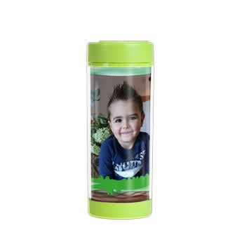Personalised water bottle for kids - Lime