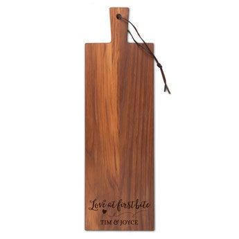 Houten snijplank - Teak - Langwerpig (S)