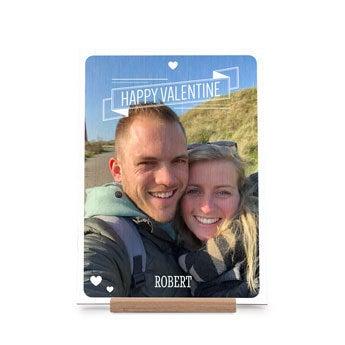 Dřevěné Valentines karty - portrét