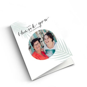 Cartão de agradecimento foto - XL - Vertical