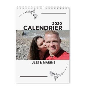 Calendrier personnalisé 2020 - Portrait A4