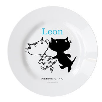 Pim & Pom Barnas tallerken - Gå en tur