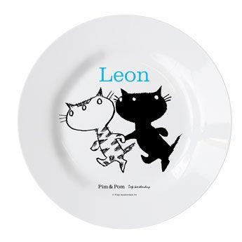 Plato de Pim & Pom para niños - Vamos de paseo