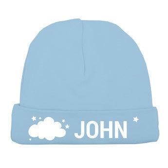 Chapéu do bebê - azul bebê