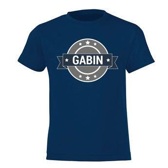 T-shirt - Enfant - bleu marine - 8 ans