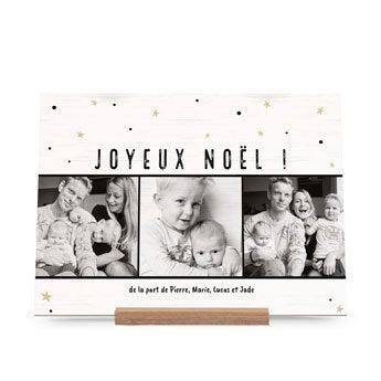 Carte de Noël en bois - Horizontal