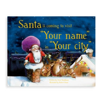 Book with name - Santa is coming
