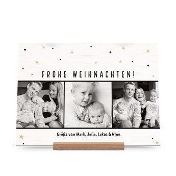 Weihnachtskarte Holz - Horizontal