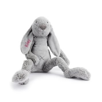 Personalised Big Rabbit Richie - Grey
