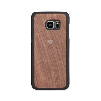 Caixa de telefone de madeira - borda Samsung Galaxy S7